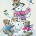 13661 Snowman Teddy Bear II