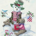 13662 Snowman Teddy Bear I