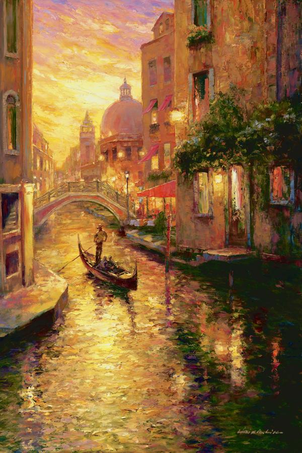 33338 Gondola in Sunset, Venice