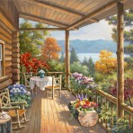 31723 Log Cabin Covered Porch