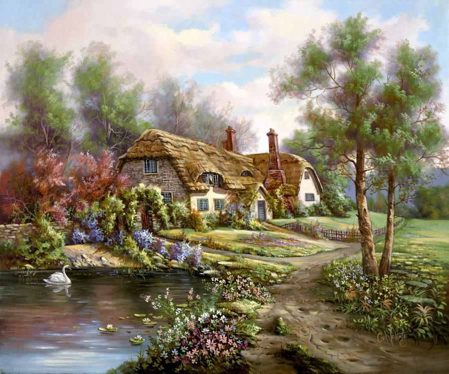 1949 Hampshire Garden Pond